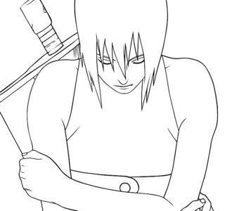 Naruto, kolorowanka dla chłopców do druku