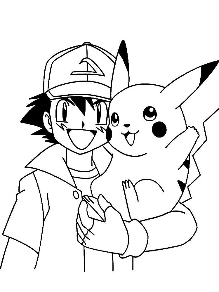Kolorowanka Pokemony Ash Ketchum Malowanki Do Wydruku Dla Dzieci
