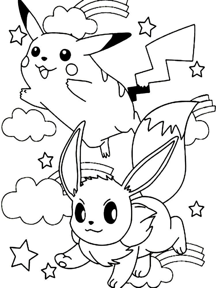 Kolorowanka Wesole Pokemony Malowanki Z Bajki Dla Dzieci Do Druku