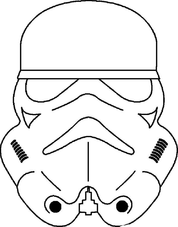Kolorowanka Star Wars maska, malowanki do druku