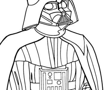 Darth Vader kolorowanka star wars do druku