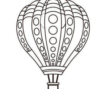Balon kolorowanka dla dzieci do druku