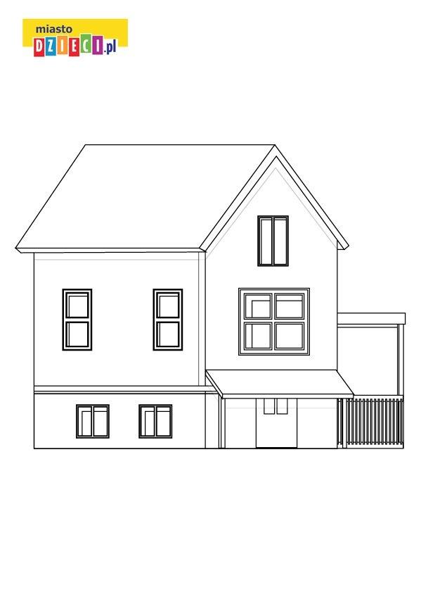 dom kolorowanka dla dzieci do druku