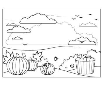 Jesień kolorowanka dla dzieci pory roku