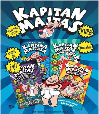 Kapitan Majtas seria książek dla dzieci