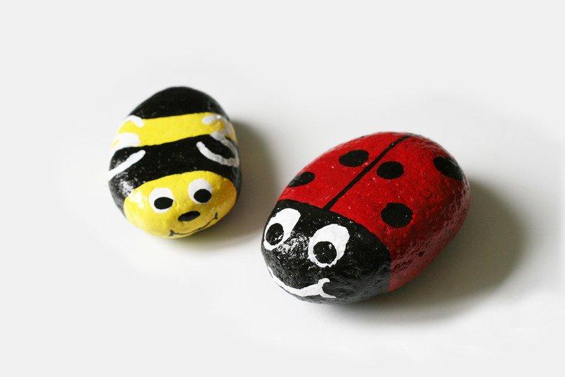 Jak zrobić malowane kamienie biedronki zabawy dla dzieci