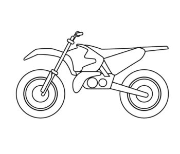 Motocykl crossowy kolorowanka dla chłopców do wydrukowania