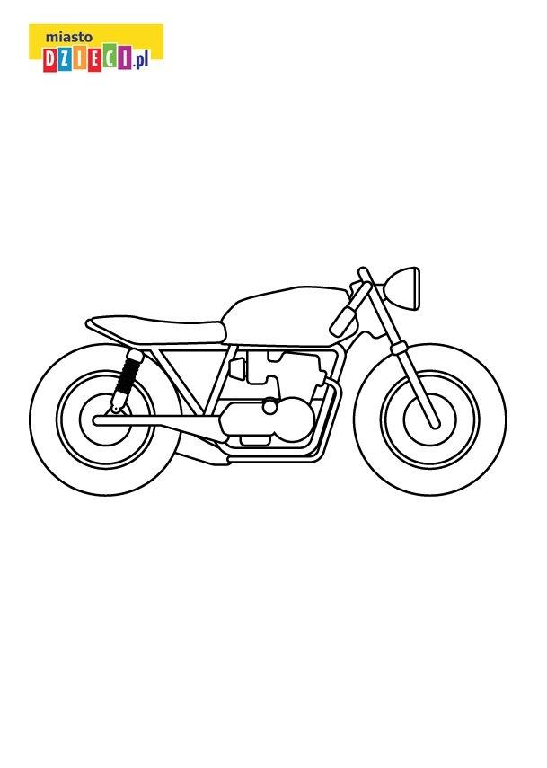 Motocykl kolorowanka do druku dla chłopców