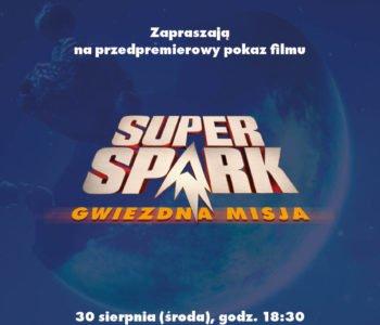 Super Spark gwiezdna misja zaproszenia do kina
