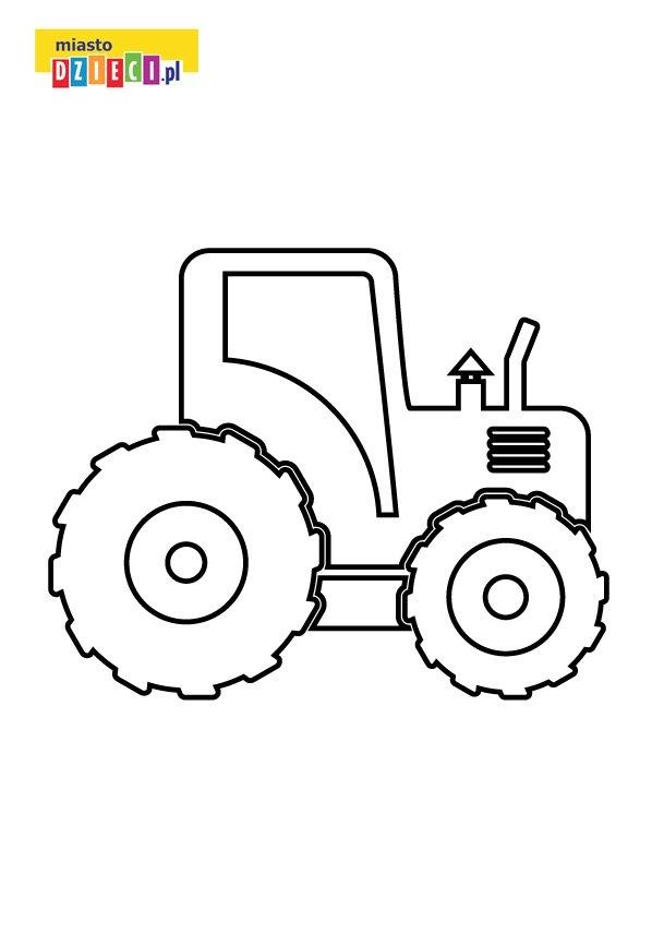 Traktor kolorowanka dla dzieci do druku