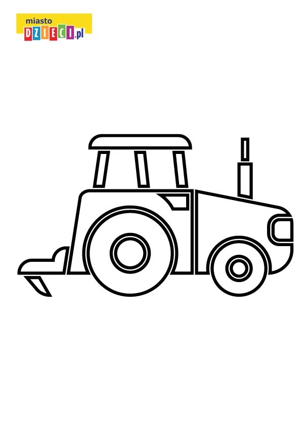 traktor z klocków malowanka dla chłopców dla dzieci