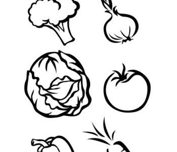 Warzywa kolorowanka dla dzieci do wydrukowania