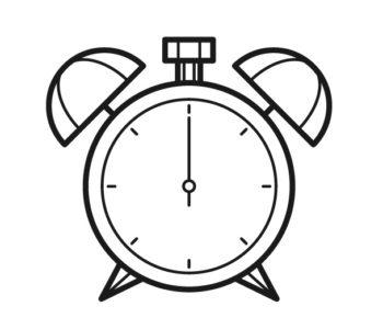 zegar kolorowanka dla dzieci do wydrukowania