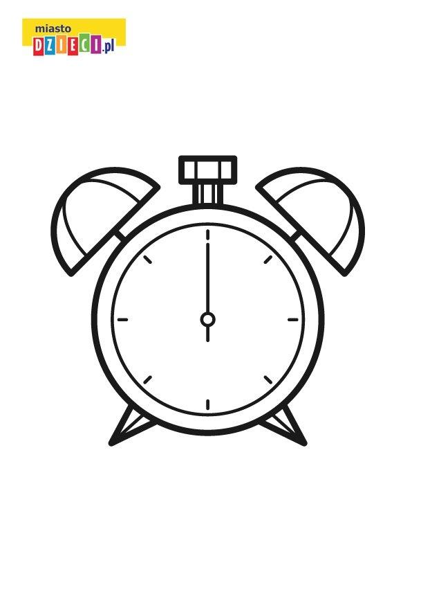 Kolorowanka Zegar Edukacyjne Malowanki Dla Dzieci Do Druku
