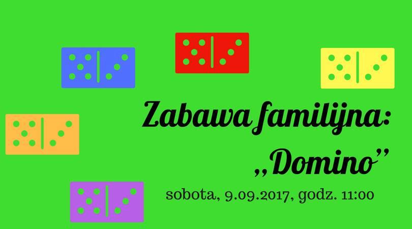 Zabawa familijna Domino - bezpłatne zajęcia dla dzieci w bibliotece
