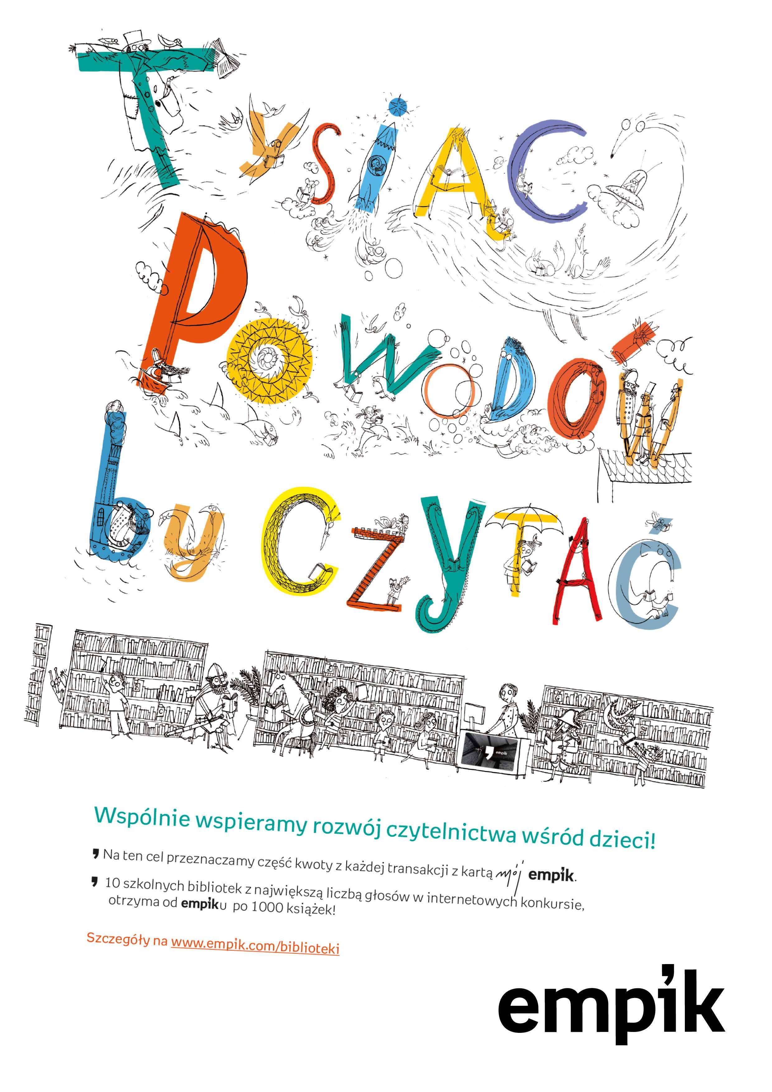 Tysiąc książek konkurs dla bibliotek szkolnych
