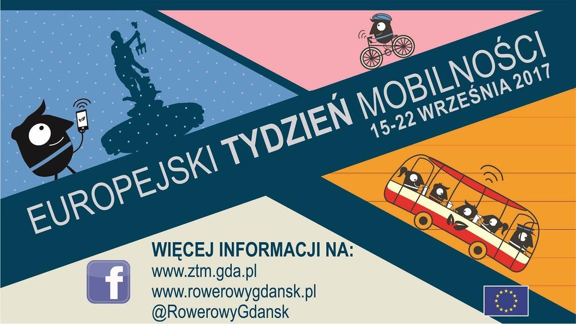 Gdański tydzień mobilności plakat