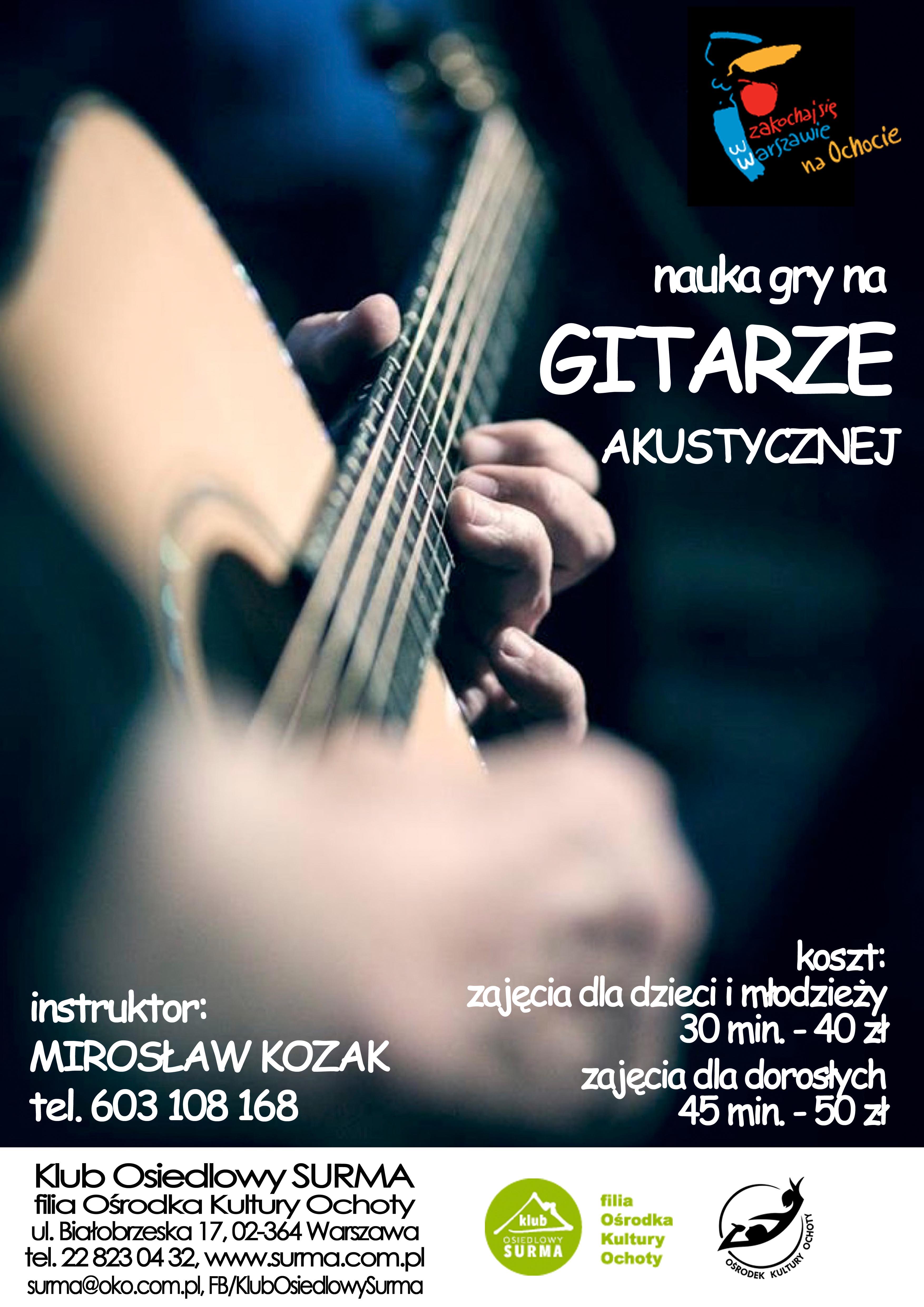 Zajęcia gry na gitarze