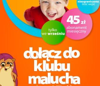 Wrześniowa promocja dla dzieci z Klubu Malucha w Loopy's World