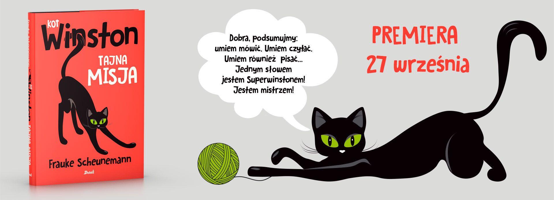 Kot Winston tajna misja premiera książki dla dzieci