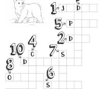 Krzyżówka matematyczna dla dzieci