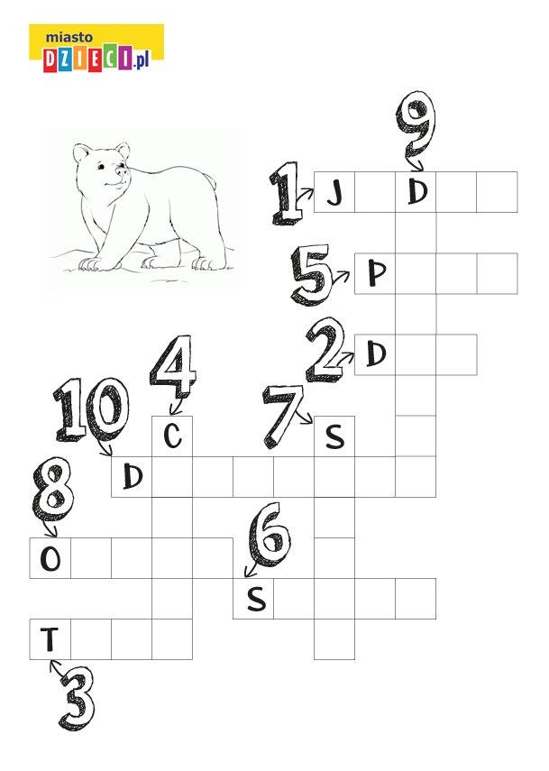 Krzyżówka liczby dla dzieci