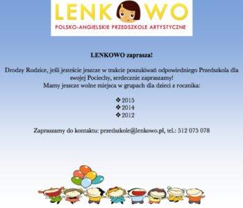 Rekrutacja na rok szkolny 2017/2018 w LENKOWIE trwa