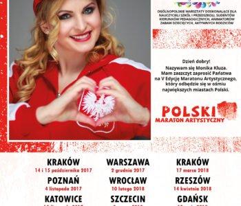 5 edycja ogólnopolskiego projektu doskonalącego dla nauczycieli szkół i przedszkoli – Polski Maraton Artystyczny