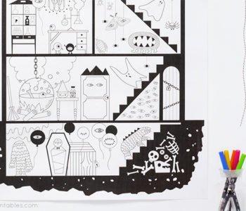 nawiedzony dom kolorowanka dla dzieci