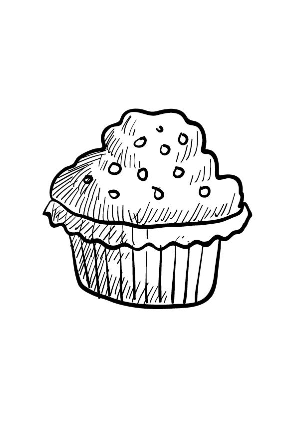 Muffinka kolorowanka do druku
