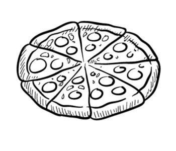 Pizza kolorowanka do druku