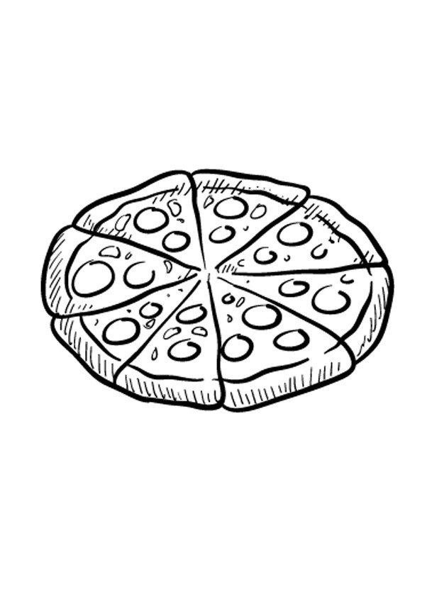 Pizza Kolorowanka Do Druku Darmowe Malowanki Z Jedzeniem