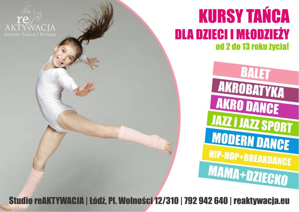 Nowy sezon zajęć tanecznych dla dzieci, młodzieży oraz mam w Studio Tańca reAKTYWACJA