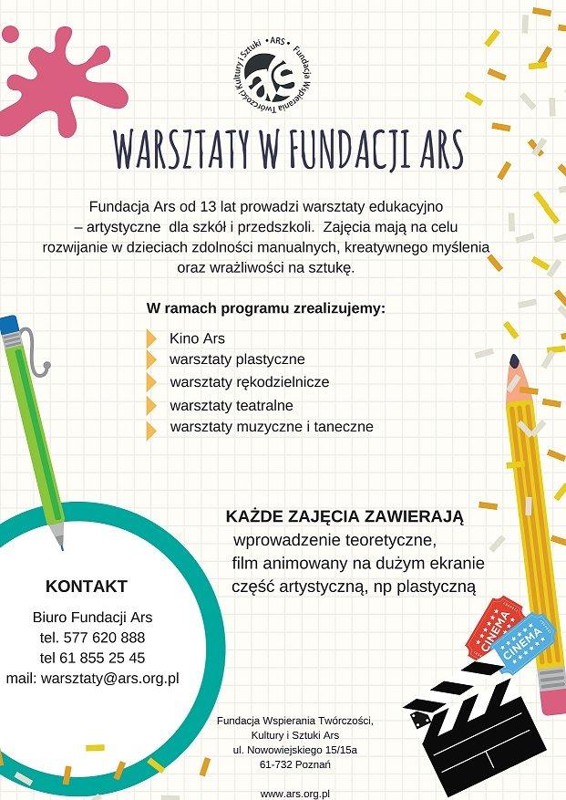 Warsztaty dla dzieci w Fundacji Ars