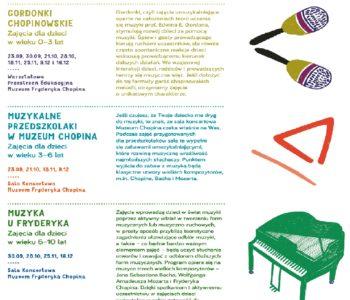 Muzeum Chopina dla rodzin: wrzesień 2017