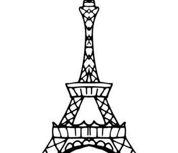 Wieża Eiffla kolorowanka do druku