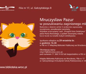 Mruczysław Pazur w poszukiwaniu zaginionego mleka
