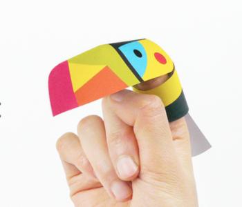 Ptaszki na palec – papierowe szablony do sklejania