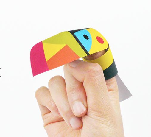 papierowy ptaszek do sklejania