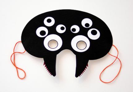 straszna maska pająk do druku