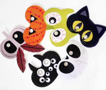 maski na Halloween do wydrukowania