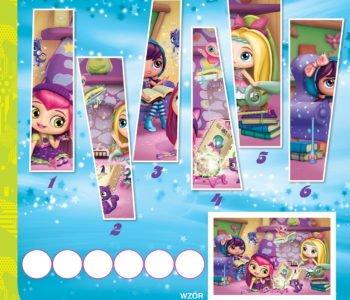 Małe Czarodziejki zabawy do druku dla dzieci