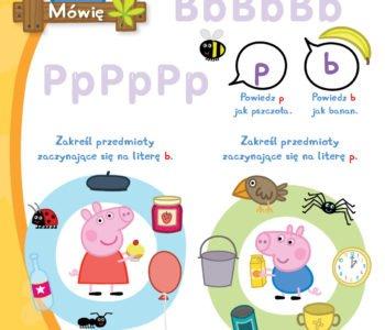zabawy ze Świnką Peppą do druku dla dzieci