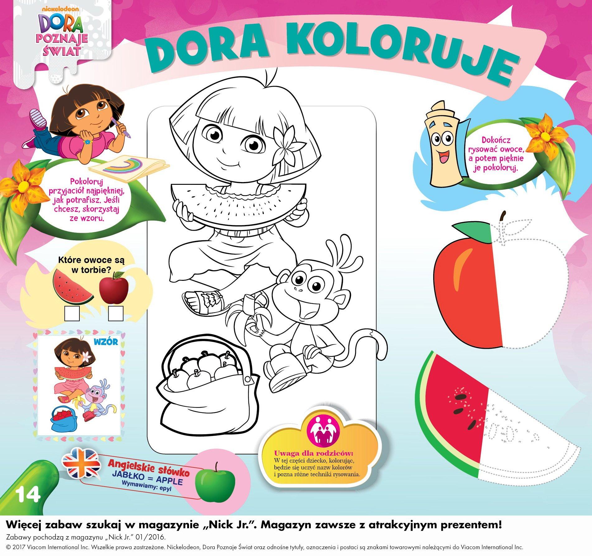 Dora kolorowanki dla dzieci do druku