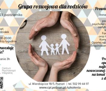 Grupa rozwojowa dla rodziców – zmiana terminu