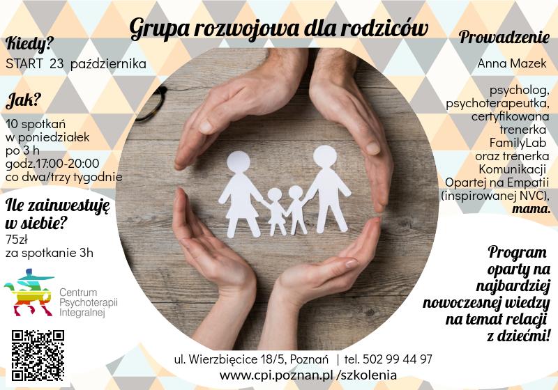 grupa rozwojowan dla rodzicow Poznań