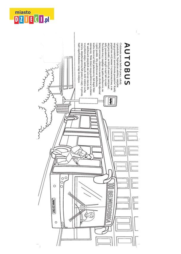 Darmowa kolorowanka z autobusem do druku i kolorowania