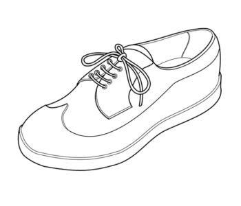 Darmowa kolorowanka z butem do wydrukowania