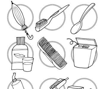 Co się nie przyda do pielęgnacji zębów - kolorowanka do ściągnięcia i wydruku