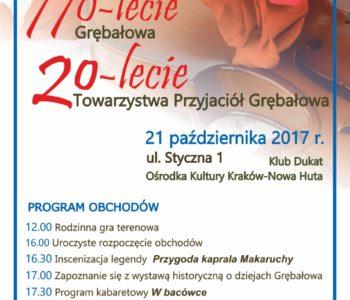 Obchody 770-lecie Grębałowa i 20-lecie Towarzystwa Przyjaciół Grębałowa